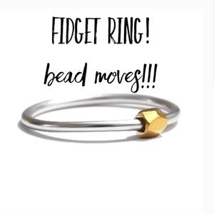 Sterling Anxiety Fidget Ring Silver Gold Spinning
